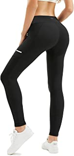 High Waist Yoga Pants with Pockets for Women Tummy Control Yoga Leggings for Workout Running 4 Way Stretch