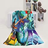 SPXUBZ Throw Flannel Blanket Home Blanket Wings of Fire Character Soft Cozy Plush Easy to Clean Blanket