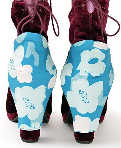 Stiefel Reversibel Fersenschutz für Frauen die ein Auto fahren, kratzfreie Blockschuhe Schilde Rosa & Blau