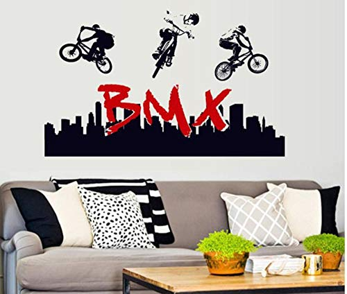 Vélo cross-country silhouette chambre salon autocollant mural décoratif amovible