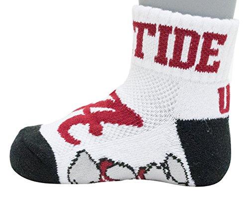 Donegal Bay NCAA Alabama Crimson Tide Unisex Alabama Baby Qtr Sockalabama Baby Qtr Sock, Red, BAX 12-24 Months