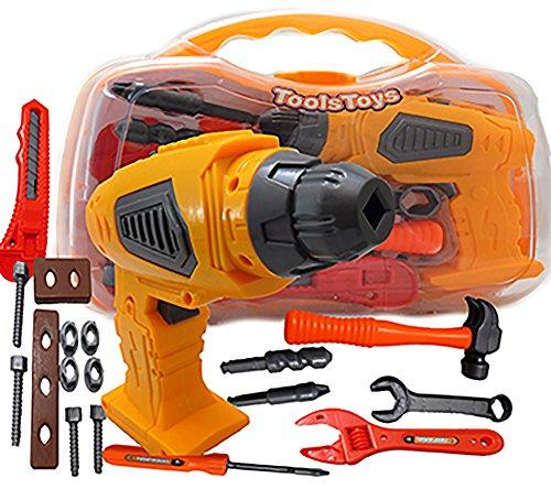 allkindathings 252263199636 Kinderwrijving boormachine gereedschapskist set DIY Builders gebouwconstructie speelgoed