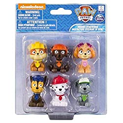 Paw Patrol miniature figures, individually packaged, set of 6 miniature figures includes: Rubble, Chase, Skye, Zuma, Rocky and Marshall Take Paw Patrol mini Pups in your pockets everywhere you go! Paw Patrol miniature figures measure approximately 1 ...