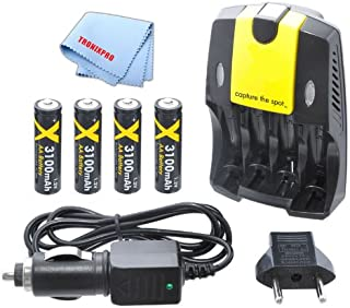 with Charger Olympus C-2 Digital Camera Battery Charger Replacement for 4 AA NiMH 2800mAh Rechargeable Batteries