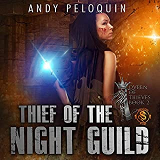 Thief of the Night Guild     Queen of Thieves Series, Book 2              By:                                                                                                                                 Andy Peloquin                               Narrated by:                                                                                                                                 Rebecca McKernan                      Length: 14 hrs and 13 mins     7 ratings     Overall 4.6