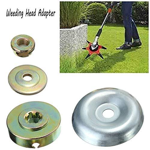 Wegreeco - Juego de 4 piezas de repuesto para caja de engranajes de metal para desbrozadora de cortacéspedes y cortadoras de césped, herramienta de fijación universal M10