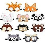 JAHEMU Tiermasken Filz Masken Kindermasken Halloween Maske Partymasken Weihnachten Geburtstag...
