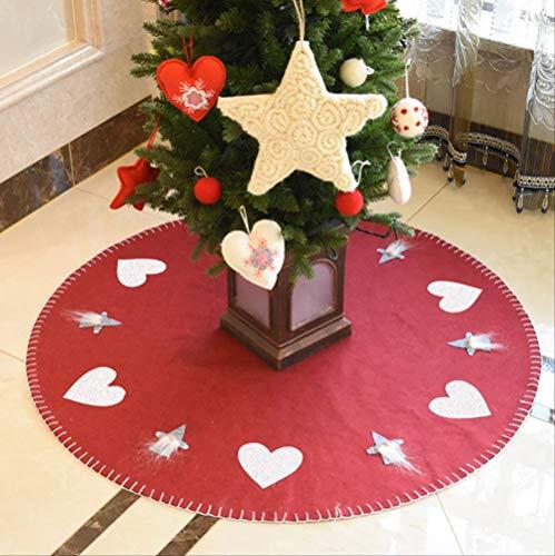 tytltree kerstboom rok, wol, vilt boom jurk vrolijk kerstmis decor, scene lay-out benodigdheden vakantie gereedschap, 100 cm