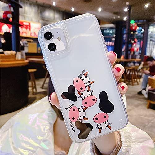DEIOKL Transparen Full Liquid Quicksand Astronaut Cherry Phone Case for iPhone 12 Pro Mini X XR XS 11 Pro MAX 7 8 Plus SE 2020,F,for iPhone 7