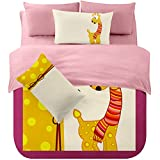 MeMoreCool Home Textile Autumn and Winter Brushed Series Children Cartoon Bedding Set Duvet Cover Sets for Boys and Girls Soft Bed Sheets