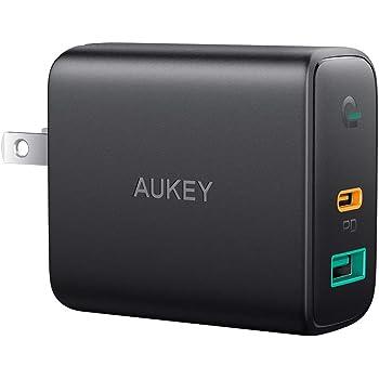 AUKEY 急速充電器 アダプタ 30W USB-C/USB-A 折りたたみ式プラグ Power Delivery3.0対応 iPhone, iPad Pro(11インチ、2018), MacBook, Galaxy S9 / S9+, Xperia XZ1 /iPhone 11/11 Pro/11 Pro Maxその他USB-C機器対応 PA-D1【PSE認証済み】