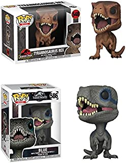 FunkoPOP Jurassic Park: Tyrannosaurus Rex + Blue – Stylized Vinyl Figure Bundle Set