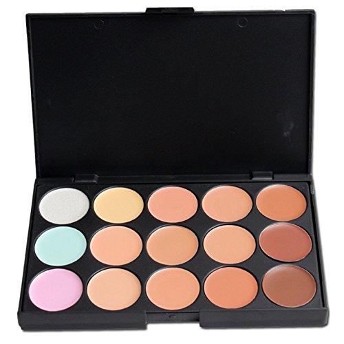FantasyDay® 15 Couleurs Palette de Maquillage Correcteur Camouflage Crème Cosmétique Set #1 - Parfait pour une Utilisation Professionnelle et Quotidienne