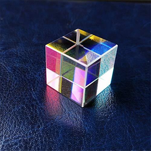 Würfelprisma, optisches K9-Glas, buntes Regenbogendekorations-Streuprisma-Würfel, wissenschaftliches Experimentprisma, optisches Lehrprisma, Refraktor-Kristallprisma, Fotofilter,30*30*30mm