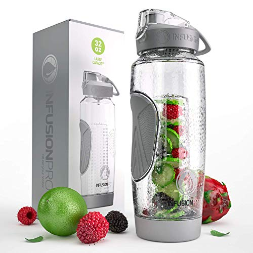 Infusion Pro 32 oz. Fruit Infusion Water Bottles with Insulated Sleeve
