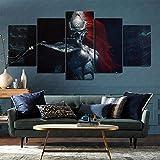 Airxcn Poster Artistico 5 Pezzi Pittura su Tela 3D Warhammer 40,000 Dawn of War 3 Warhammer 40,000 Dawn of War 3 Carta da Parati Atmosfera del Negozio 200x100cm Senza Cornice