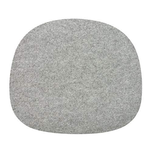 connox Collection Filz-Sitz-Kissen-Unterlage, Stuhl-Auflage mit Antirutsch, grau meliert, Sitzpolster, Sitzkissen universell einsetzbar, H: 0,4 cm, T: 32 cm, L: 36,5 cm