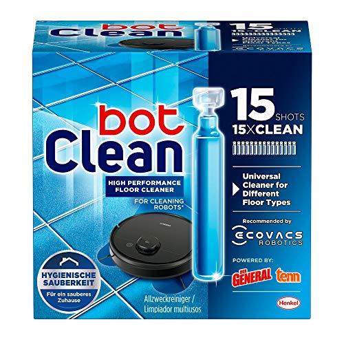 BotClean Bodenreiniger-Flüssigkeit 15 x 18 ml für Saugroboter mit Wischfunktion, hygienische Sauberkeit