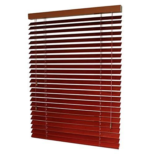 CHAXIA jaloezieën venster, massief houten jaloezie slaapkamer studeerkamer zonneklep warmte-isolatie rolgordijn aanpasbaar, verschillende maten (kleur: A, grootte: 75x150cm)