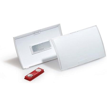 Durable 821519 Porte-badge CLICK FOLD avec aimant pour badge 54 x 90 mm Polypropylène Transparent - Boîte de 10
