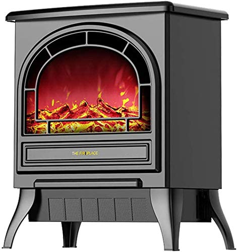 Elektrische Kaminheizung, Freistehende Elektrische Kamin-Innenheizung, Flamme Mit Holzverbrennungseffekt, Mit Fernbedienung, Beweglicher Kamineinsatz
