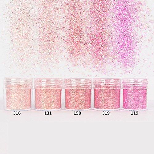 Cattie Girl 5 cajas rosa Holo uñas purpurina lentejuelas holográfica purpurina polvo...