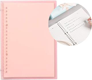 Transparent A5 Refillable Notebook 20 Rings/Holes Loose Leaf Binder Flexible Waterproof PP Cover 30 Sheets Ruled Lined Pap...