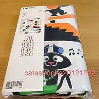 即決 新品 イケア IKEA 掛け布団カバー&枕カバー シングル 黒猫 ねこ ベッドリネン 子供部屋 キッズ 北欧雑貨 リメイクに