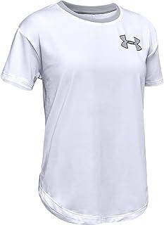 تي شيرت نسائي بأكمام قصيرة يحمل شعار Heatgear Armour من Under Armour