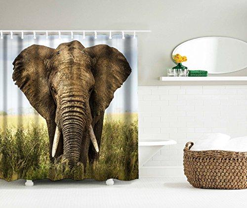 LAundNA Elefant Dekor Wasserdicht & Schimmel Polyester Stoff Duschvorhang Multi Farbe , 150*180