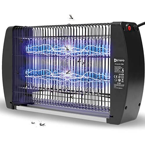 AETKFO Insektenkiller Elektrischer Insektenvernichter 20W Moskito Killer Lampe UV Mückenlampe Innen mückenvernichter Elektrisch mückenfalle Insektenfalle Bug Zapper UV Licht für Innen Zuhause
