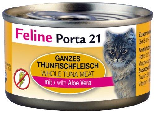 Feline Porta Katzenfutter Feline Porta 21 Thunfisch plus Aloe 90 g, 12er Pack (12 x 90 g)