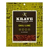 KRAVE Chili Lime Beef Jerky 4 Pack | Premium Chef Crafted Meat Cuts With Unique Flavors and No MSG |...