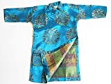 Boys Ao Dai, Vietnamese Traditional Outfit - Turquoise Ao Dai for Boys - Size 2-4-6-8-10 (10)