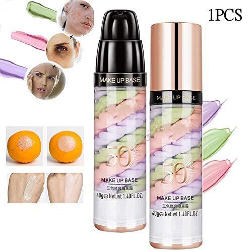 ZYYIN Rainbow Makeup Perfect Primer, Base Professionnelle Primaire Longue durée Crème en Une étape Équilibre Le Teint, Fond de Teint correcteur Premier Teint éclaircissant (1pcs)