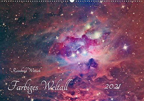 Farbiges Weltall (Wandkalender 2021 DIN A2 quer)