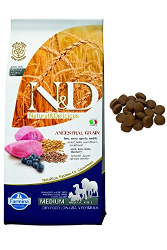 N&d low grain N& d Low Grain con Agnello e Mirtillo Secco Cane kg. 12, Multicolore, Unica