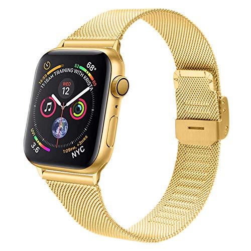 Adecuado para reloj inteligente Apple Watch con correa deportiva con hebilla de palabra iWatchT