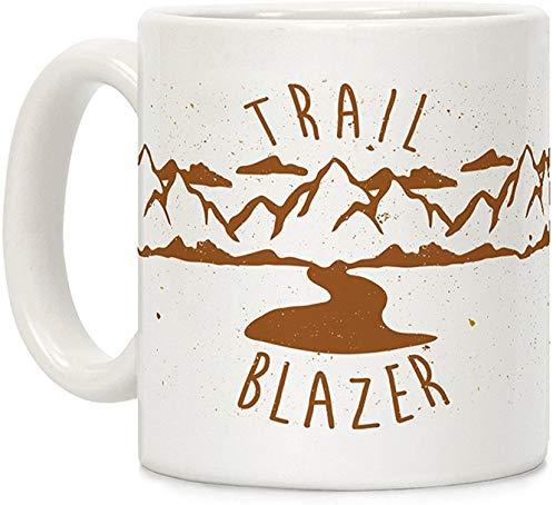 Koffie mok, Thee Beker, Trail Blazer Wit 11 Ounce Keramische Koffiemok
