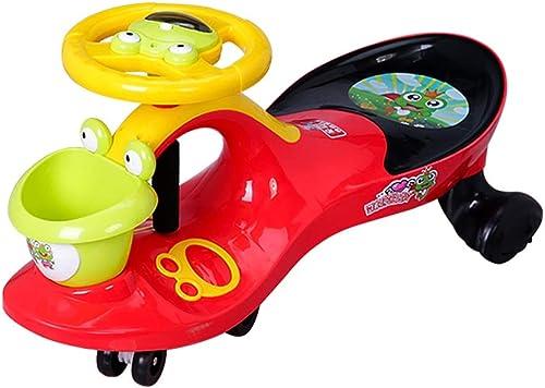Kinder Twist Car Baby Auto Yo Auto 1-3-6 Jahre alt stumm Rad mit Musikschwingen Auto Xuan - worth having (Farbe   rot, Größe   Ordinary wheel)
