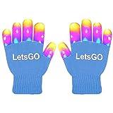 dmazing Geschenk für Kinder 3-10 Jahre, Fingerlicht LED-Handschuhe Cooles Spielzeug für Jungen ab 3-10 Jahre Mädchen Spielzeug Weihnachts Geschenke für Kinder Geburtstagsgeschenk für Jungen Blau -