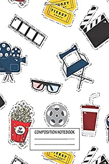 Notebook: Cinema Movie Pattern , Journal for Writing, Size 6