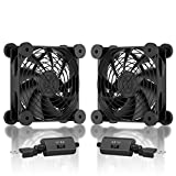 upHere N12U04 120mm USB Fan with 3 Adjustable Wind speeds Compatible for Computer / PS4 / TV Box/AV Cabinet