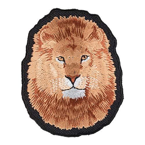 Lion Face Close Up Patch, Wild Jungle Animals & Lion Patches