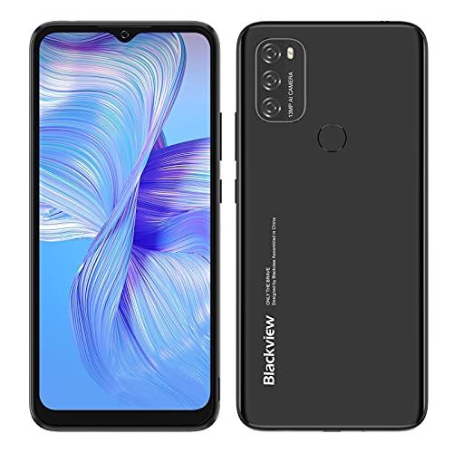 Blackview A70 SIMフリー スマホ 本体 Android 11スマートフォン6.5インチFHD+ディスプレイ8.3mmスリム5380mAhバッテリー13MPデュアルカメラ32GBスマートフォン本体4G携帯電話 顔認証 指紋認証 技適認証済 1年間の保証 (黒)
