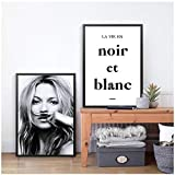 Fashion Poster Kate Moss Moustache Leinwandbilder, Model