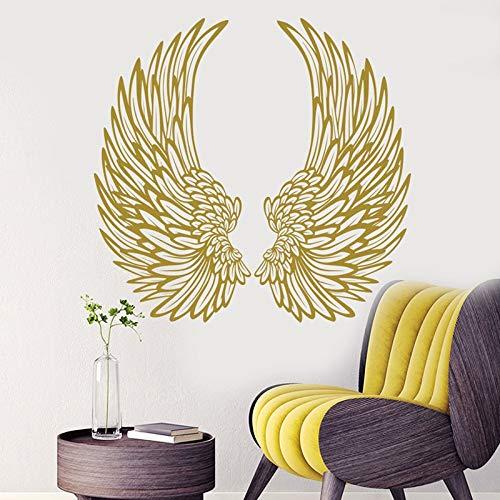 Calcomanía de pared de alas de ángel, pegatina de alas para decoración del hogar, decoración de dormitorio de moda, póster de papel tapiz DIY A9 44x42cm
