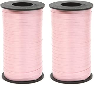 Berwick Splendorette Crimped Curling Ribbon, 3/16-Inch Wide by 500-Yard Spool, Pink - Set of 2