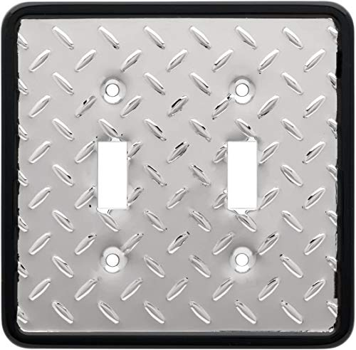 Diamond Plate Double Switch Wall Plate, Packaging may Vary