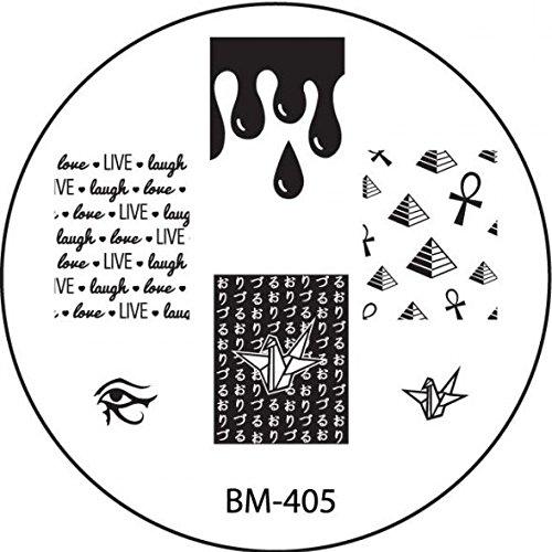 STAMPING-SCHABLONE # BM-405 °°Ägypten, Pyramiden, Blut, Bluttropfen, live lough love°°